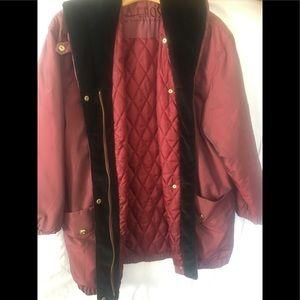 Kristen Blake Burgundy Quilted light Jacket